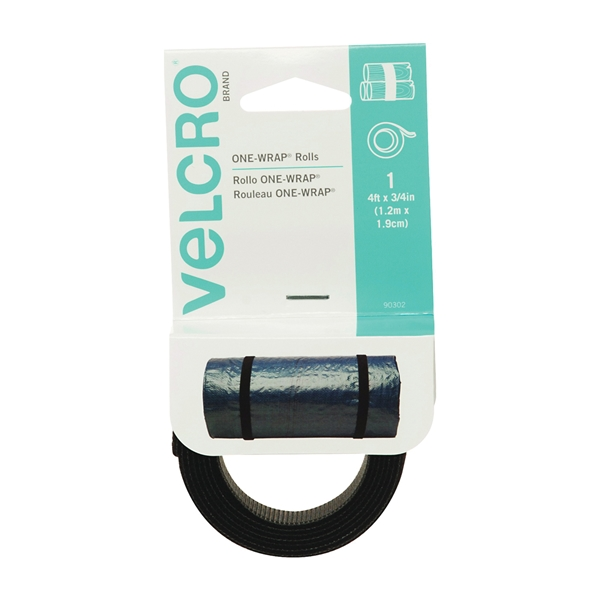 Picture of VELCRO Brand One Wrap 90302 Fastener, 3/4 in W, 48 in L, Black