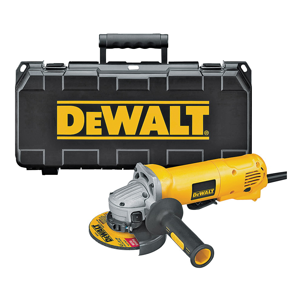 Picture of DeWALT DWE402K/D28402K Angle Grinder Kit, 5/8-11 UNC Spindle, 4-1/2 in Dia Wheel, 11,000 rpm Speed