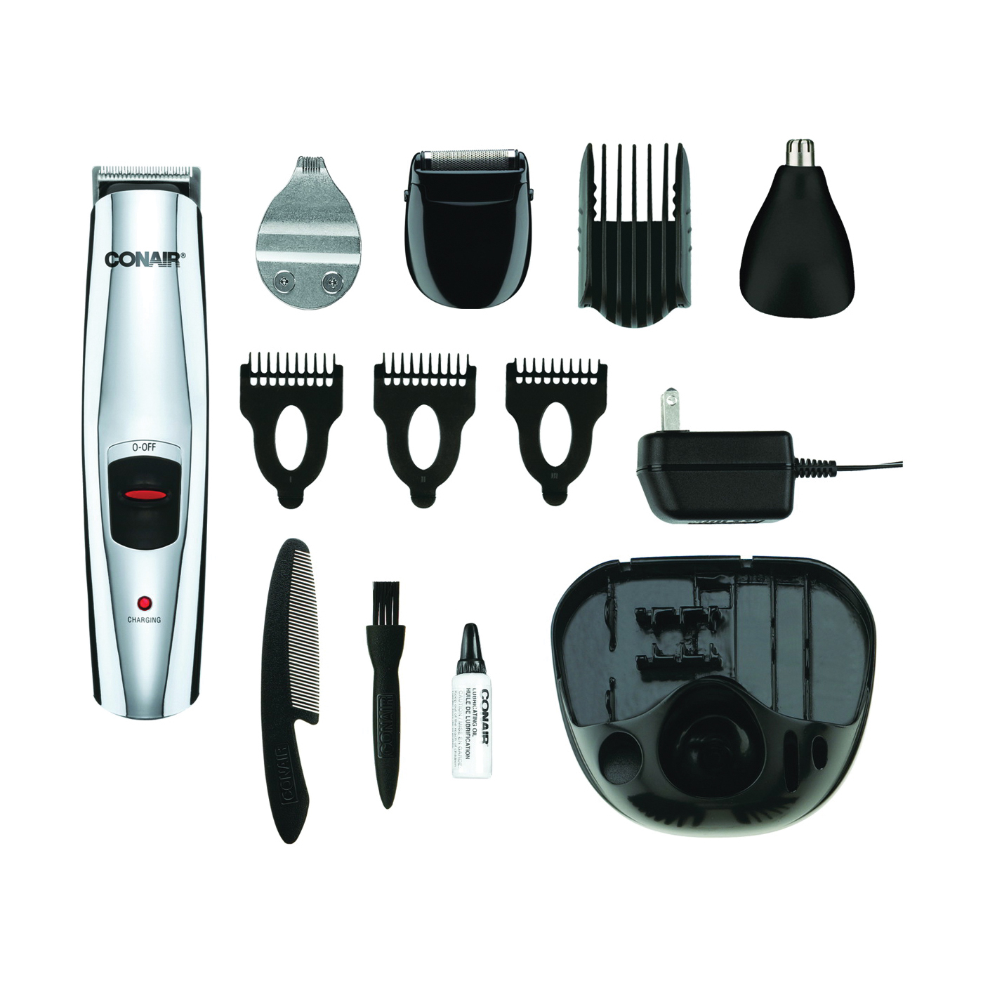 Picture of CONAIR GMT189CGB Beard and Mustache Trimmer, Battery, Stainless Steel Blade