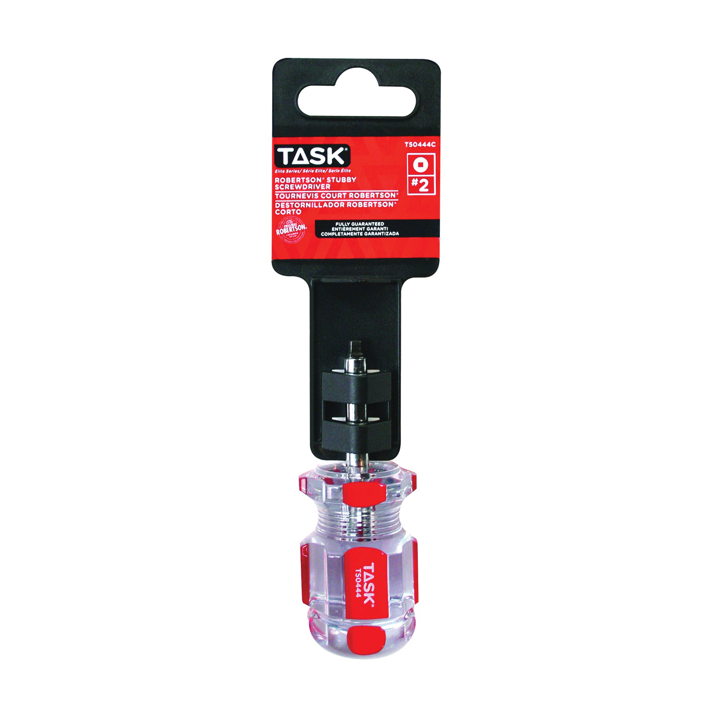 Picture of TASK T50444C Screwdriver, #2 Drive, Robertson Drive, 1-1/2 in L Shank, Cellulose Acetate Handle, Hard Grip Handle