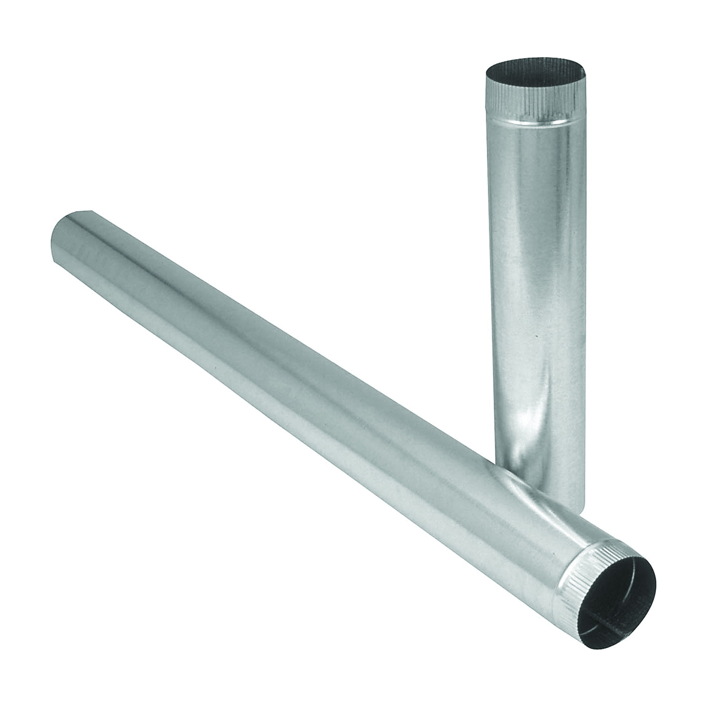 Picture of Imperial GV1812 Duct Pipe, 8 in Dia, 12 in L, 26 Gauge, Galvanized Steel, Galvanized