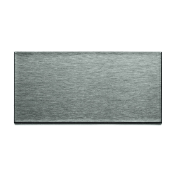 Picture of ASPECT A5250 Wall Tile, 6 in L, 3 in W, 1/8 in Thick, Metal, Brushed Stainless Steel