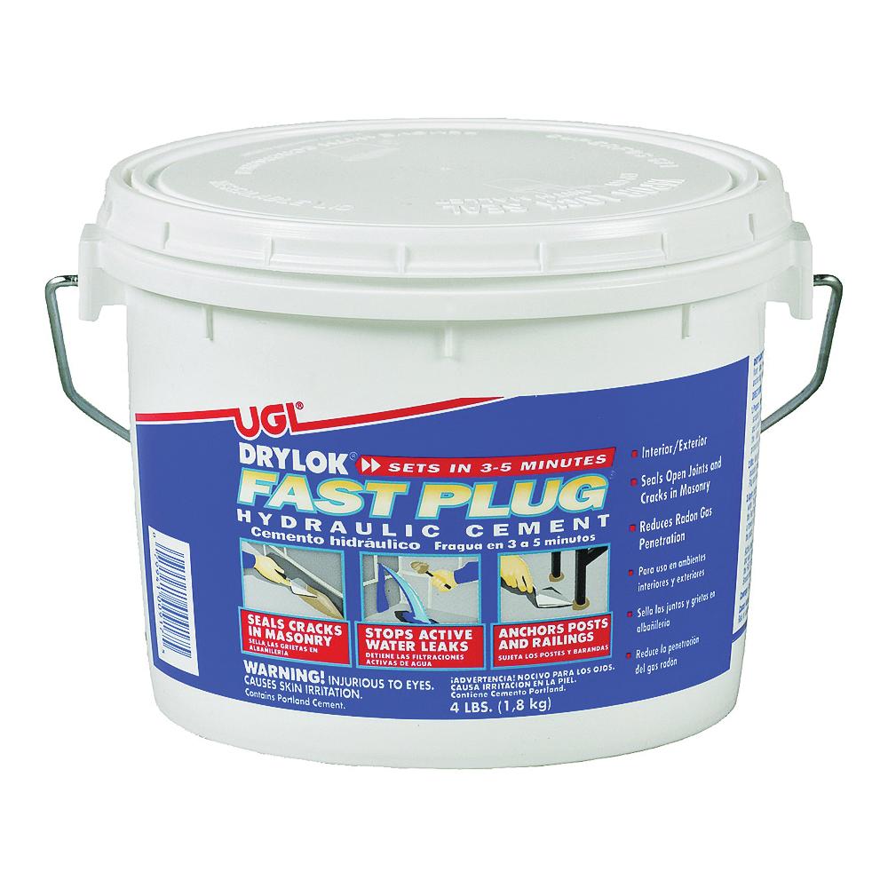 Picture of UGL DRYLOK Fast Plug 00917 Hydraulic Cement, Gray, Powder, 4 lb Package