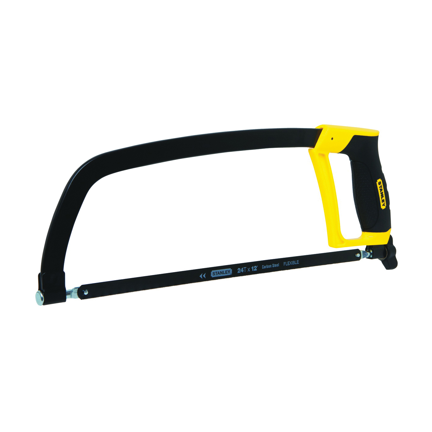 Picture of STANLEY STHT20139L Hacksaw, 12 in L Blade, 24 TPI, Steel Blade, 4-3/8 in D Throat, Metal Frame, Ergonomic Handle