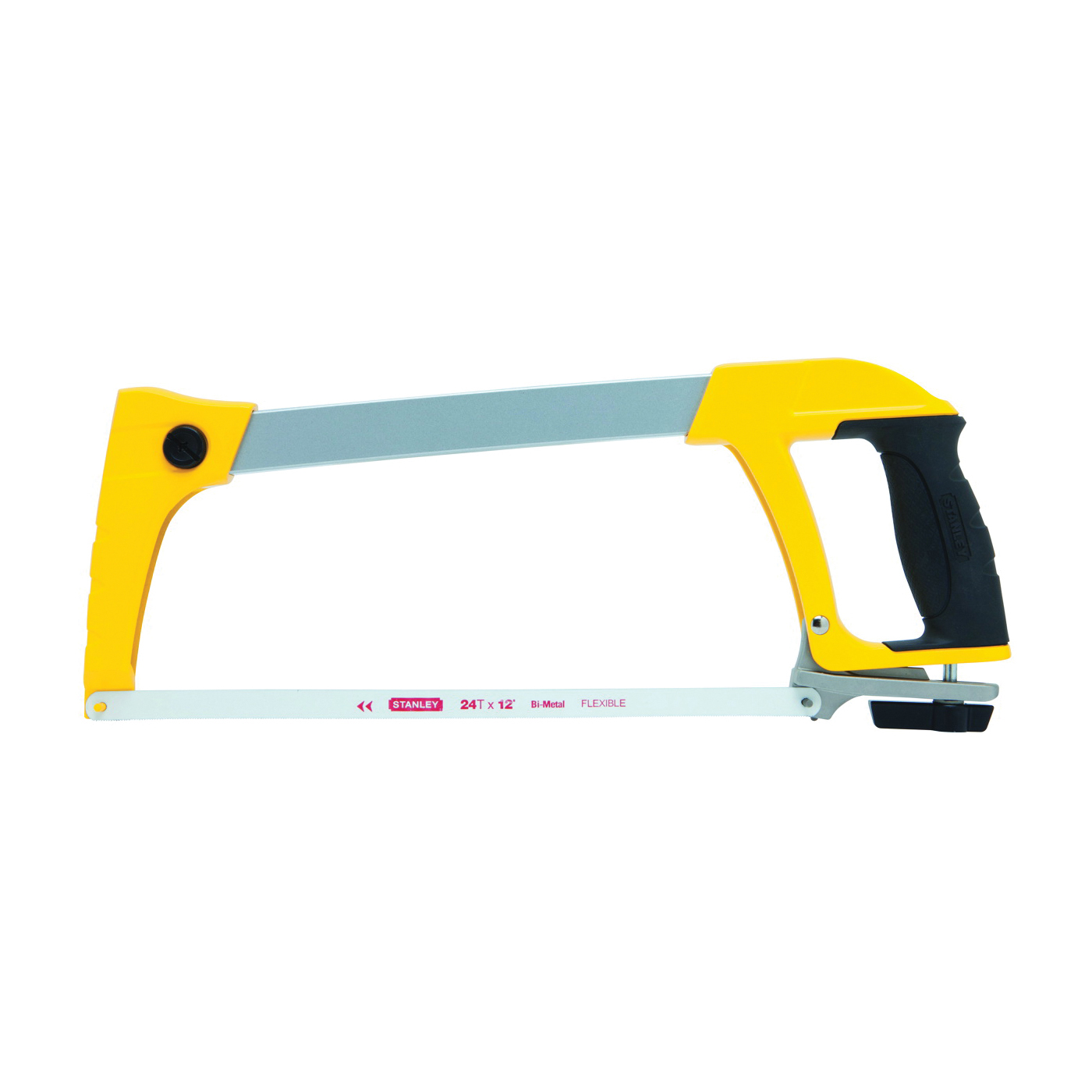 Picture of STANLEY STHT20140 Hacksaw, 12 in L Blade, 24 TPI, HCS Blade, 4-3/4 in D Throat, Tubular Metal Frame