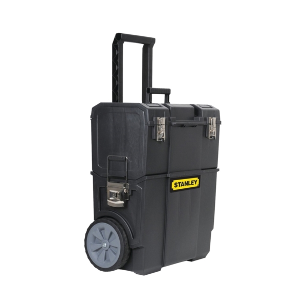 Picture of STANLEY STST18612W Mobile Rolling Workshop, Plastic, Black, 18.5 in L x 11 in W x 22.7 in H Outside, 1 -Drawer