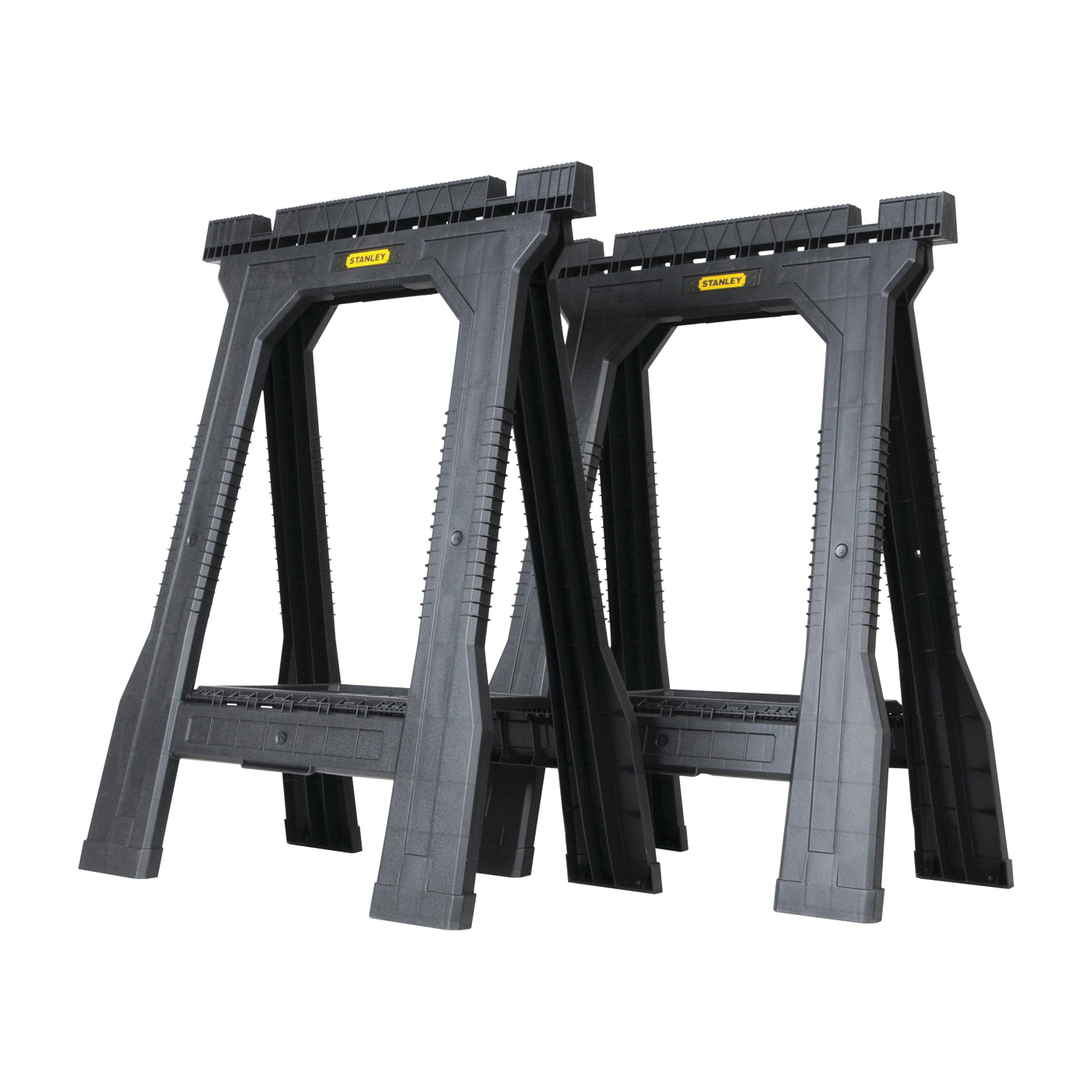 Picture of STANLEY FATMAX STST60952 Folding Sawhorse, 800 lb, 5 in W, 32 in H, 22-1/2 in D, Plastic, Black