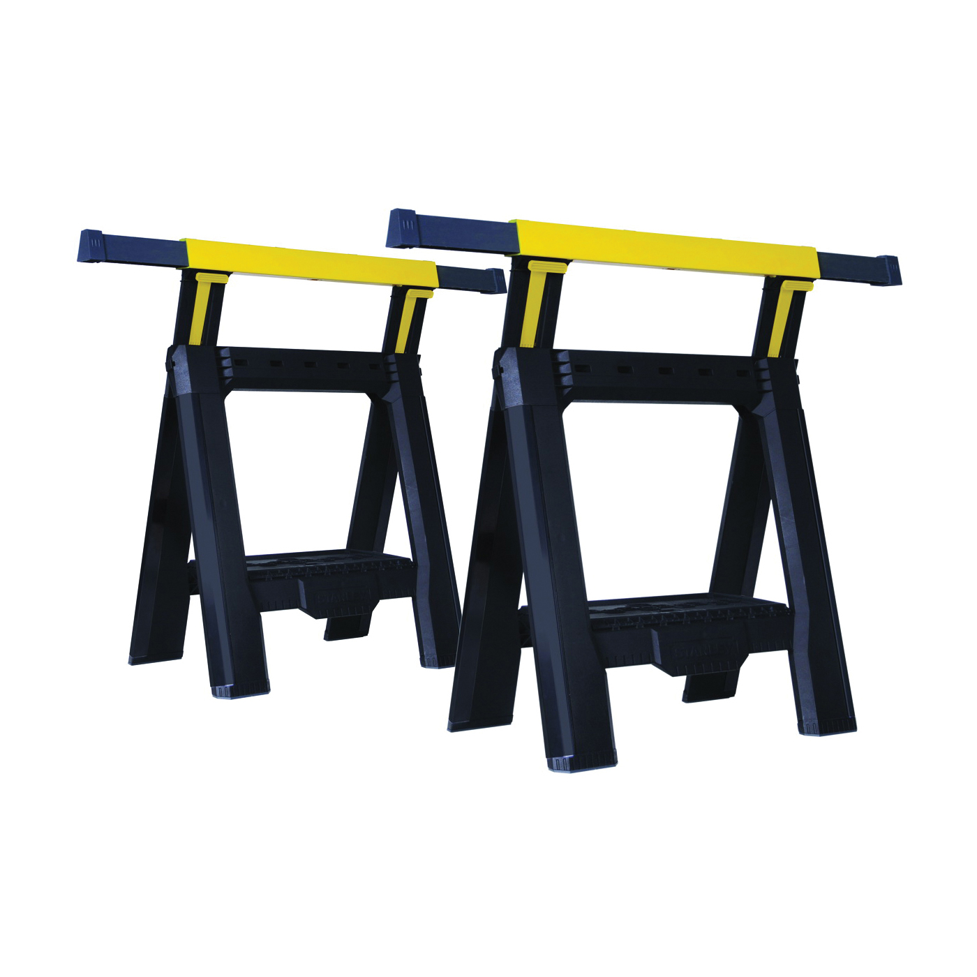 Picture of STANLEY FATMAX STST60626 Adjustable Sawhorse, 1000 lb, 2-7/8 in W, 31-1/8 in H, 28-1/8 in D, Plastic, Black