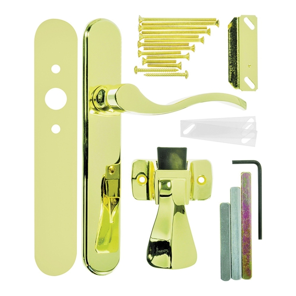 Picture of Wright Products VBG115PB Door Lever Lockset, Brass, 3/4 to 2 in Thick Door