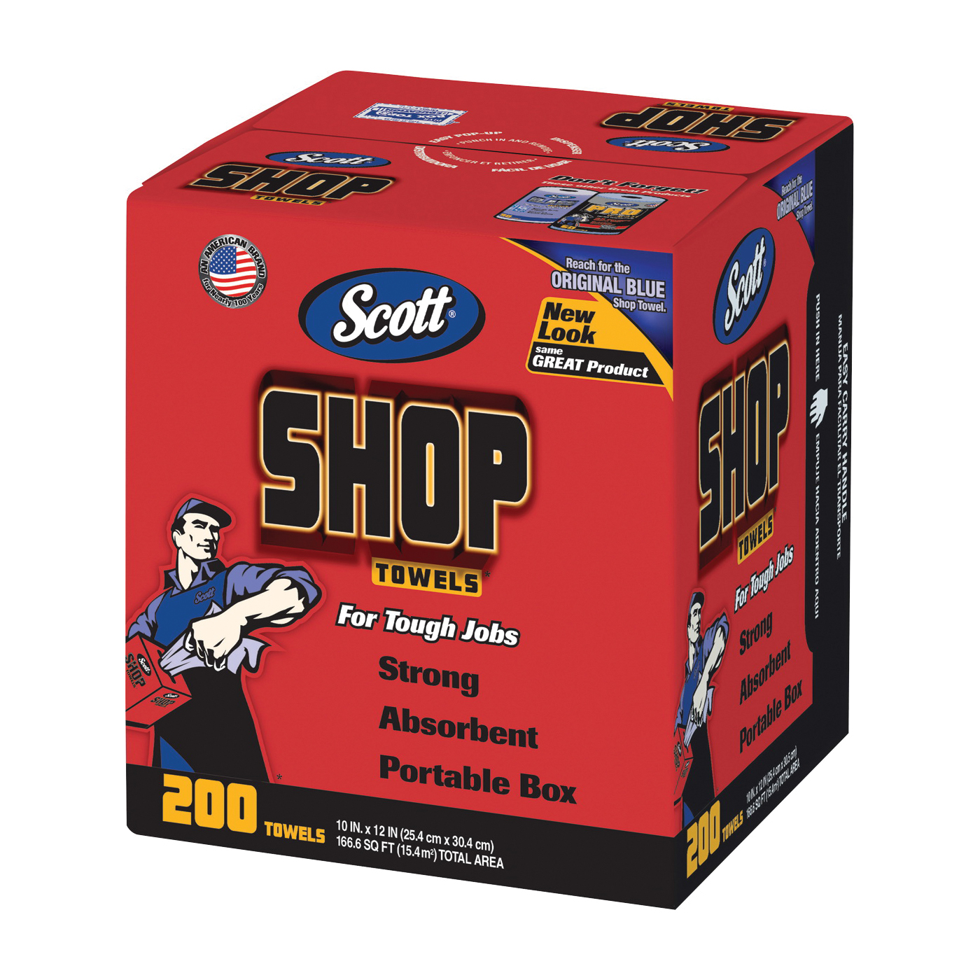 Picture of Scotts 75190 Shop Towels, Blue, 10 in