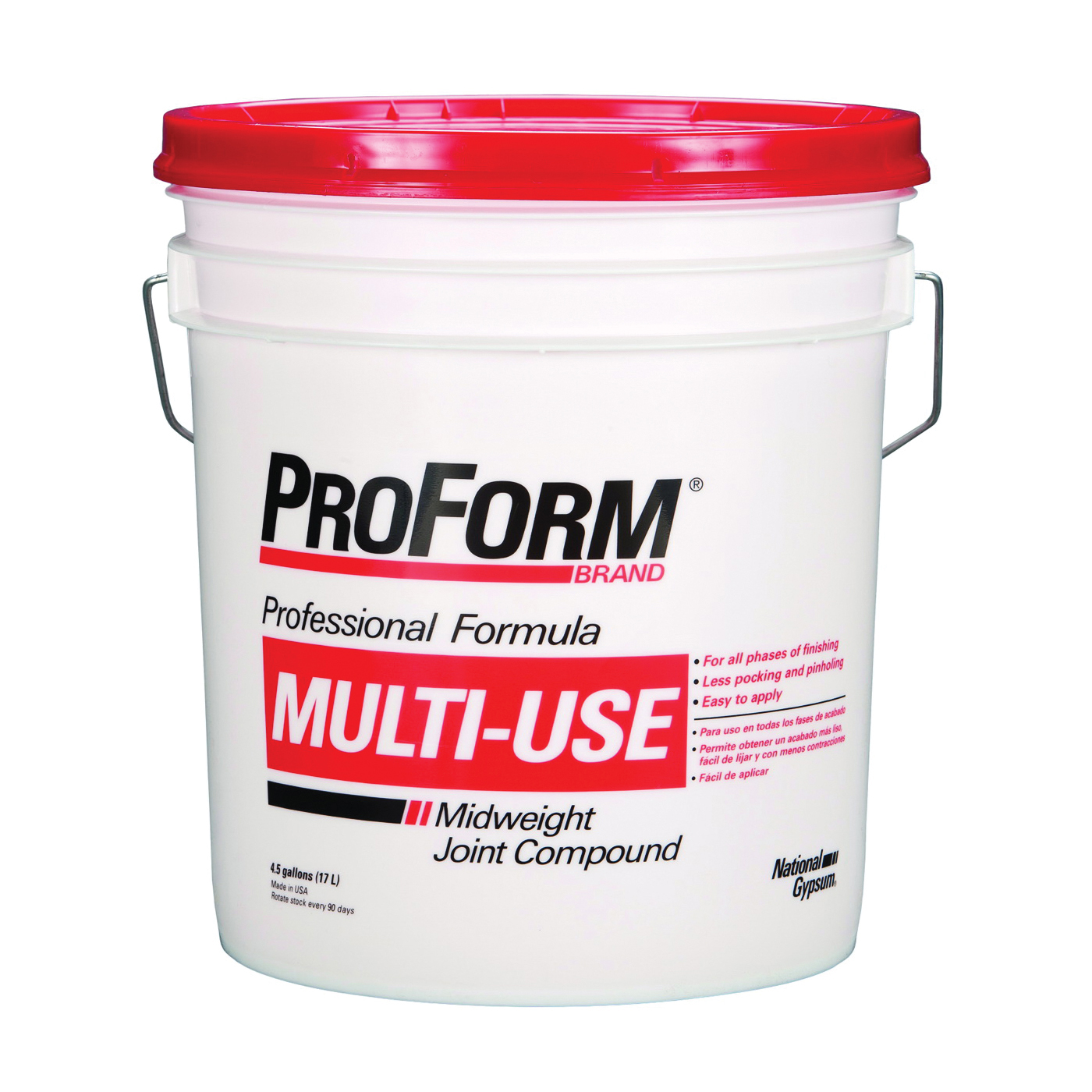 Picture of Proform JT0043 Joint Compound, Paste, Gray, 4.5 gal Package, Pail