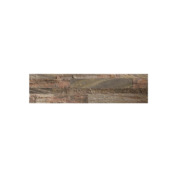 Picture of ASPECT A9080 Backsplash Tile, 24 in L, 6 in W, 0.15 to 0.3 mm Thick, Natural Stone, Weathered Quartz