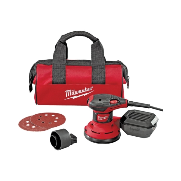 Picture of Milwaukee 6034-21 Random Orbit Palm Sander, 120 V, 3 A, 5 in Pad/Disc