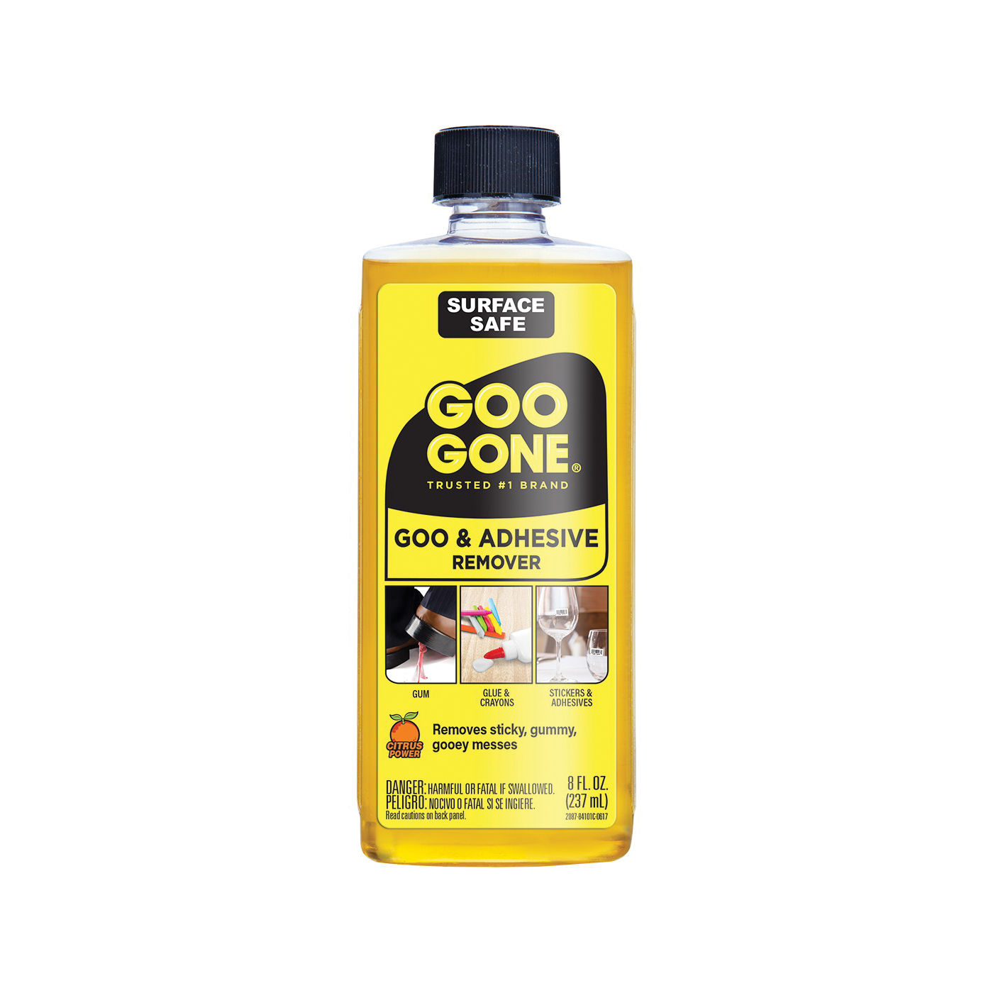 Picture of Goo Gone 2087 Goo and Adhesive Remover, 8 oz Package, Bottle, Liquid, Citrus, Yellow