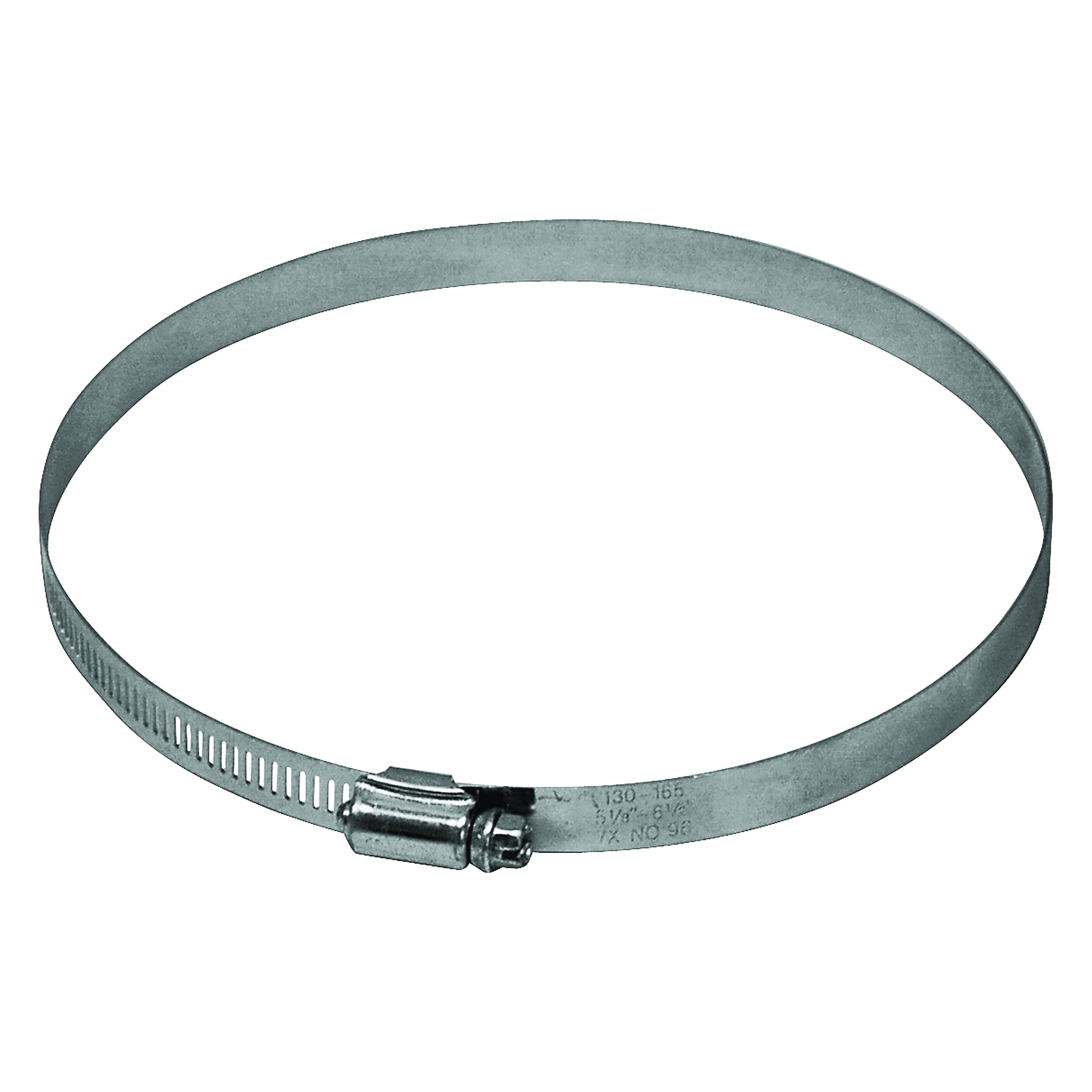 Picture of Lambro 2841 Worm Gear Clamp, 4 in Duct, Clamping Range: 3-9/16 to 4-1/2 in, Steel, Zinc