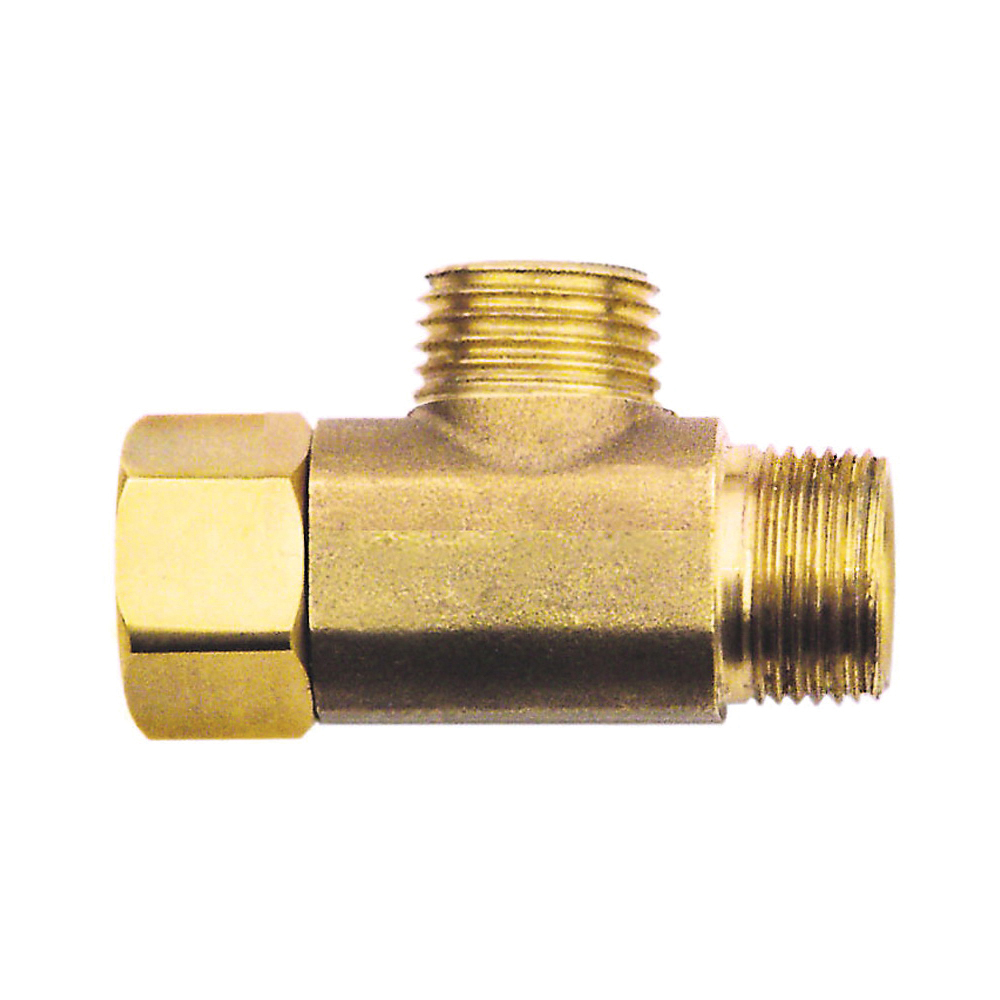 Picture of Plumb Pak PP2038LF Tee Adapter, 3/8 in, Female x Tube x Tube, Brass, Rough Brass