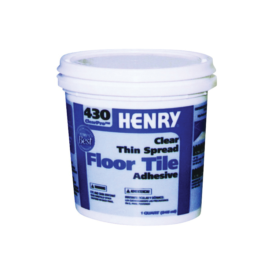 Picture of HENRY 430 ClearPro 12097 Floor Adhesive, Paste, Mild, Clear, 1 qt Package, Pail
