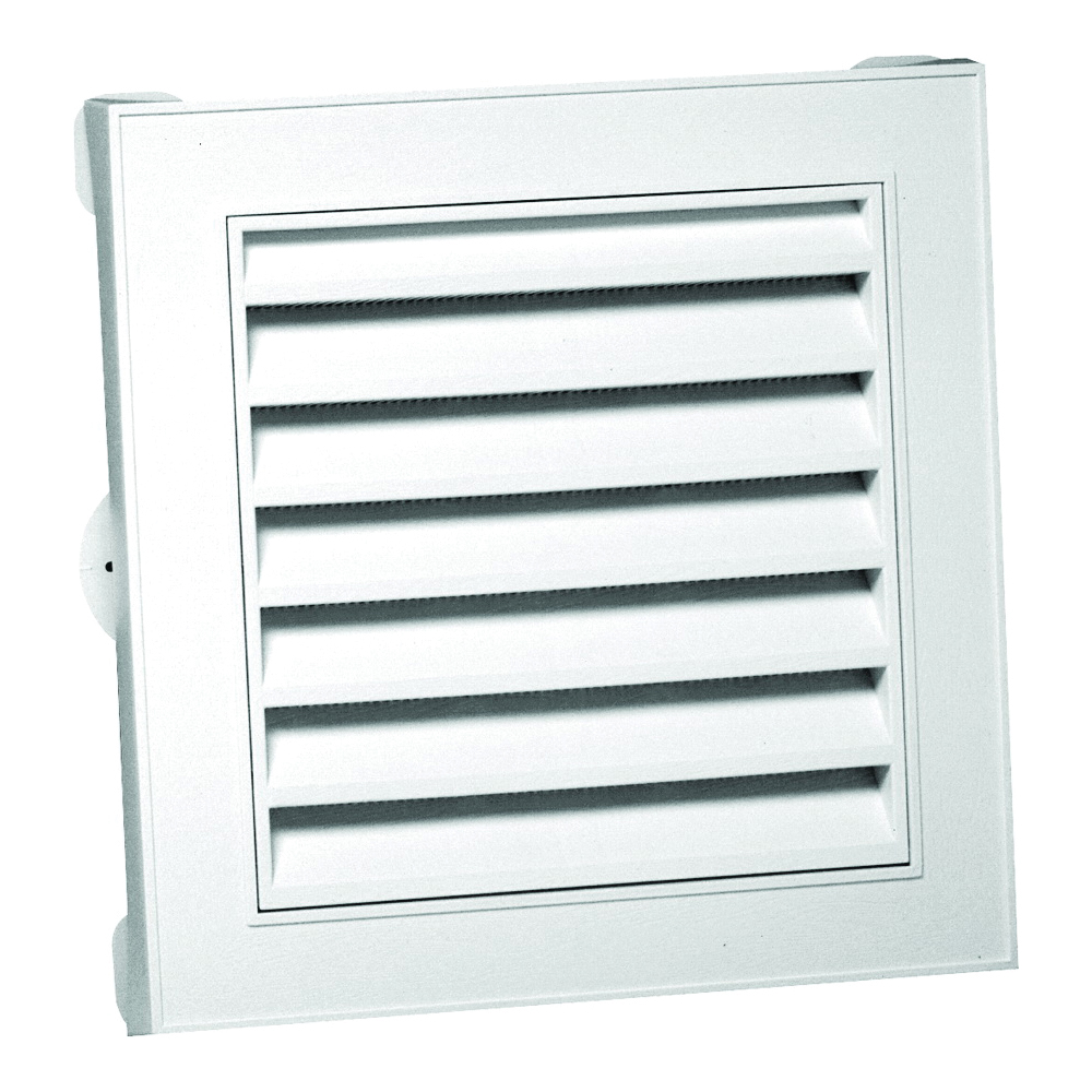 Picture of CANPLAS 626043-00 Gable Vent, 15.154 in L, 15.154 in W, Polypropylene, White