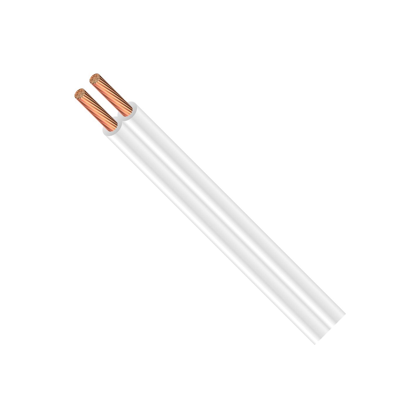 Picture of CCI 0478 Building Wire, 18 AWG Wire, 2-Conductor, Copper Conductor, PVC Insulation, White Sheath, 250 ft L