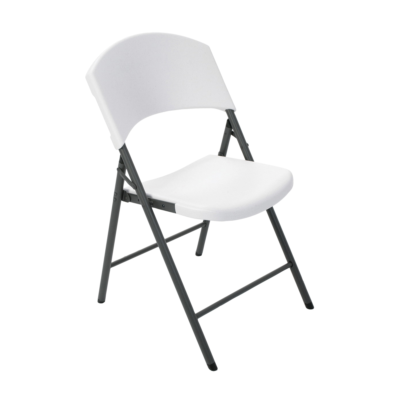 Picture of Lifetime Products 2810 Folding Chair, Steel Frame, Polyethylene Tabletop, Gray/White