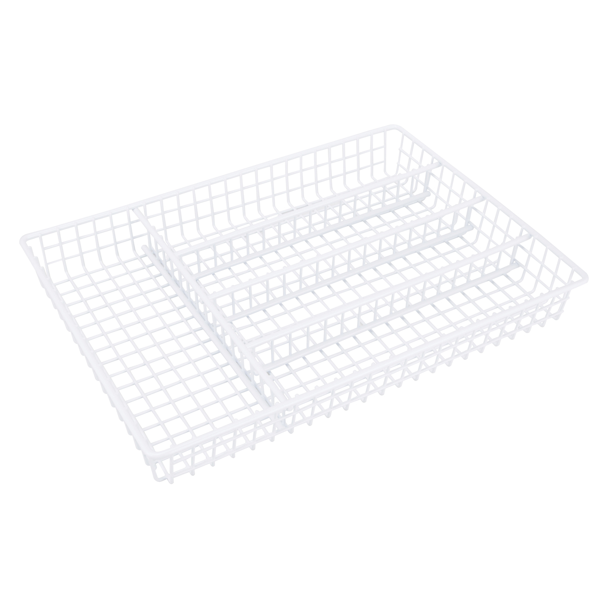 Picture of Simple Spaces JI-18W-3L Storage Tray, 14 in W, 10-1/4 in D, Steel, White