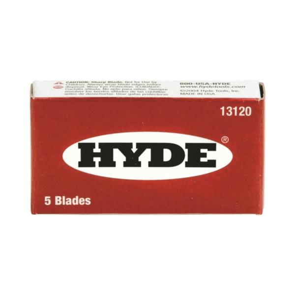 Picture of HYDE 13120 Razor Blade, Single-Edge Blade, Steel Blade