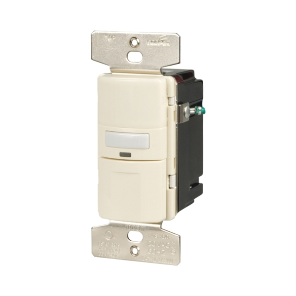 Picture of Eaton Wiring Devices OS310U-LA-K Motion Sensor Switch with Nightlight and LED, 8.3 A, 120 V, 1-Pole, Motion Sensor