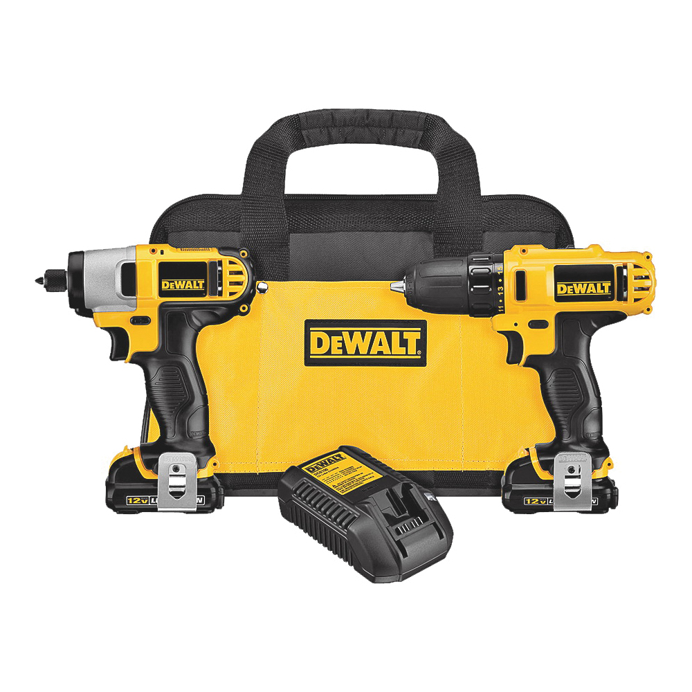 Picture of DeWALT DCK211S2 Combo Kit, Battery Included: Yes