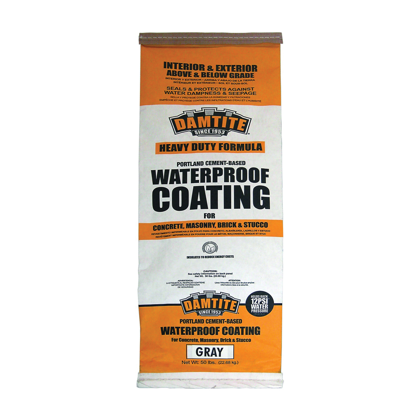 Picture of DAMTITE 02551/02501 Foundation Coating, Gray, Powder, 50 lb Package, Bag