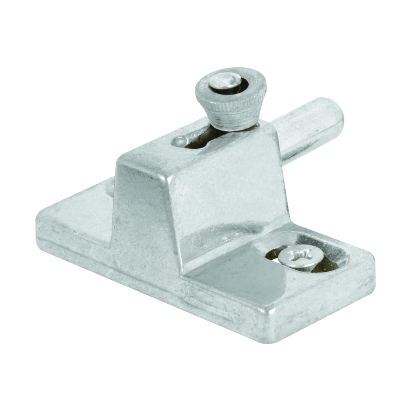 Picture of Prime-Line U 9866 Door Slide Bolt Lock, Aluminum, Aluminum, 1-3/8 to 1-3/4 in Thick Door