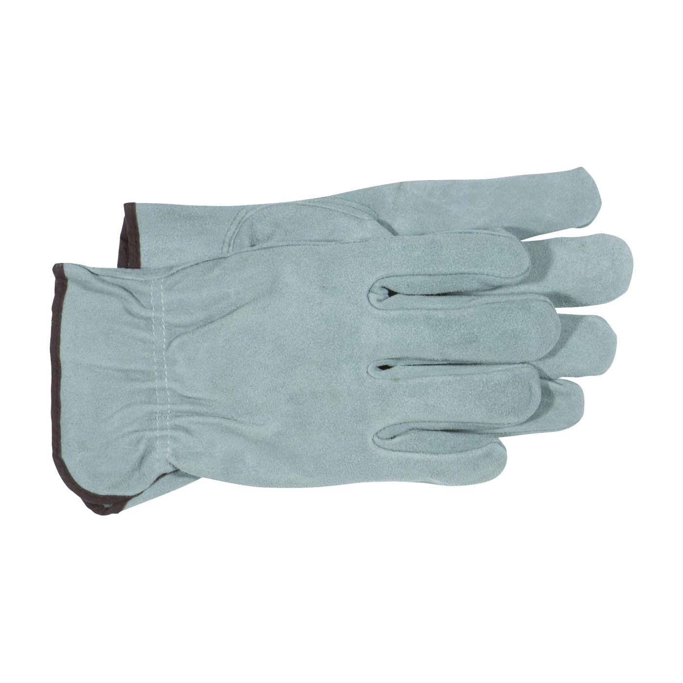 Picture of BOSS 4065J Driver Gloves, XL, Keystone Thumb, Open, Shirred Elastic Back Cuff, Cowhide Leather, Gray