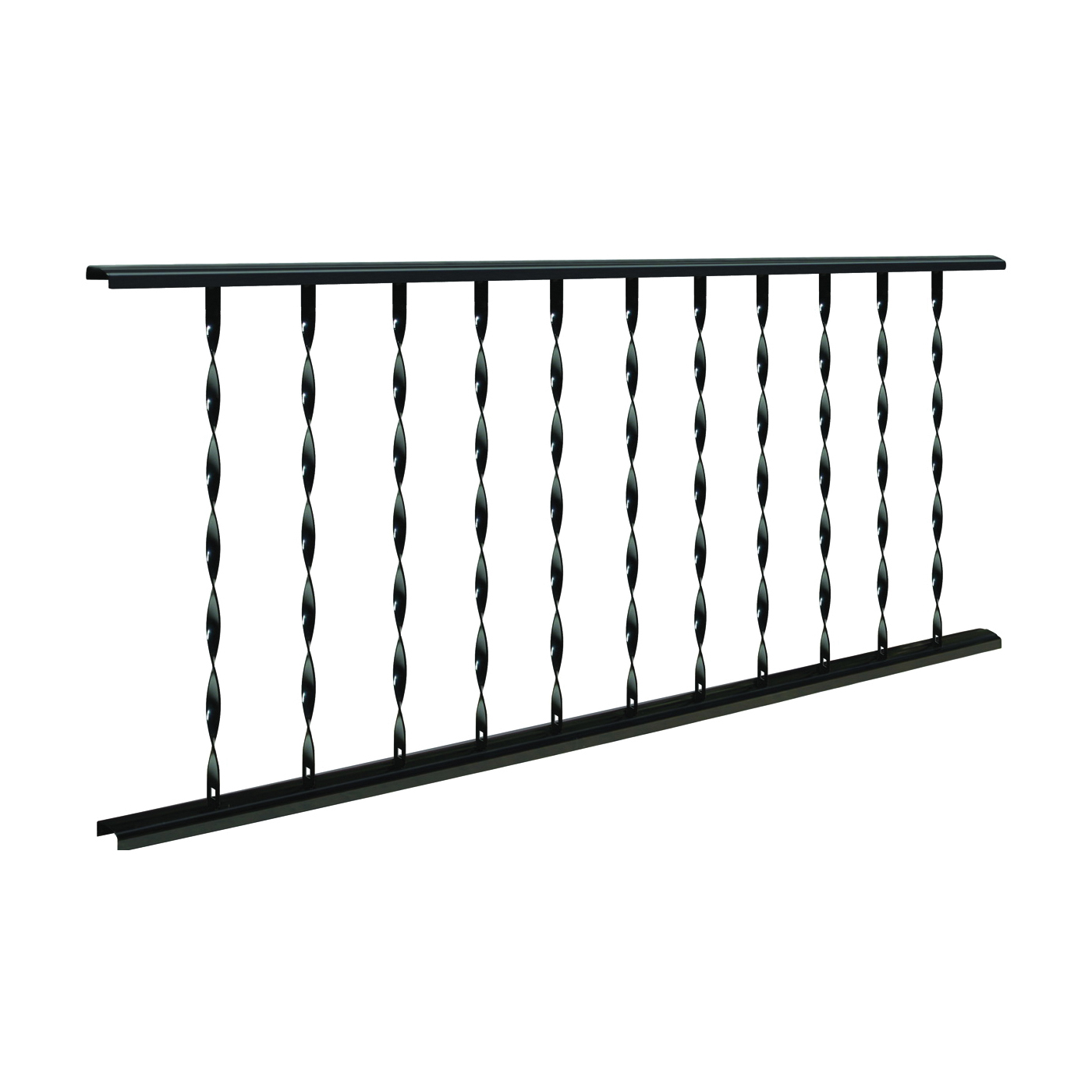 Picture of GAF VILLAGE IRONSMITH TR475 Traditional Rail, Steel, Black