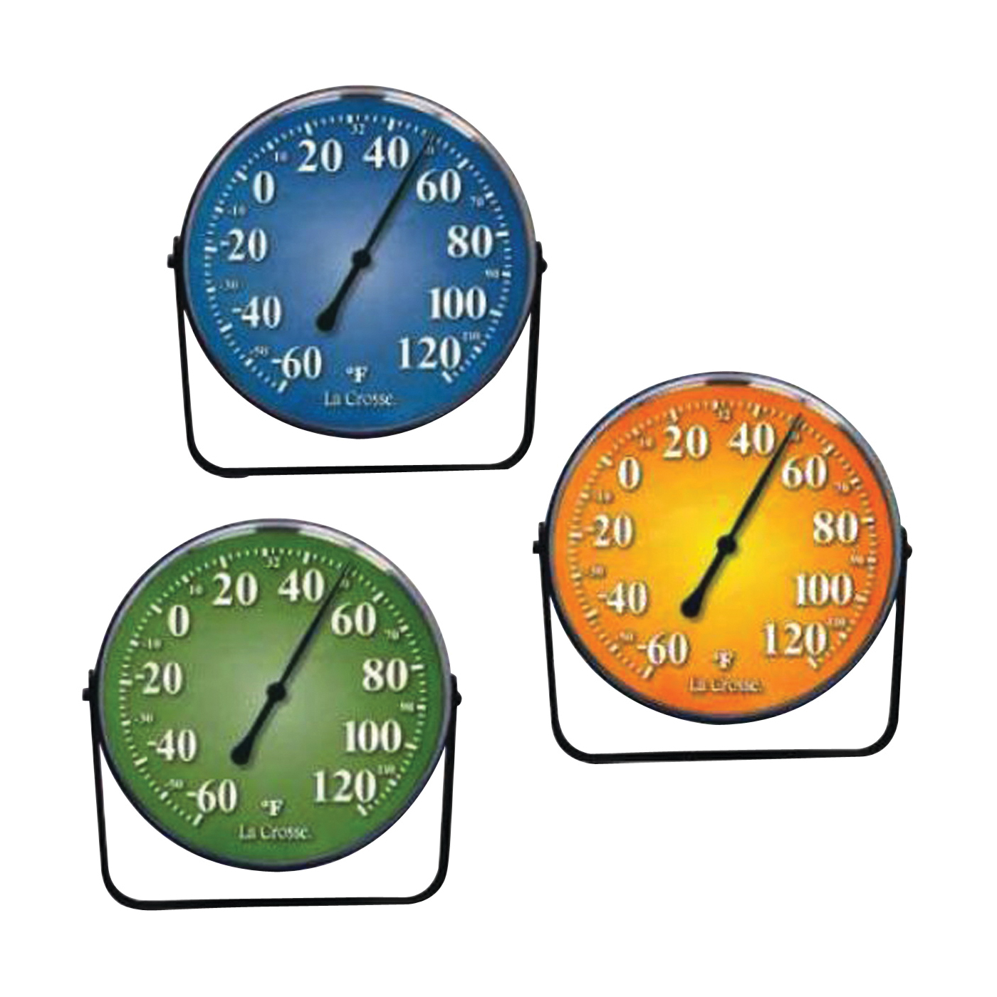Picture of La Crosse 104-1512 Variety Pack Thermometer, 5 in Display, -60 to 120 deg F, Metal Casing