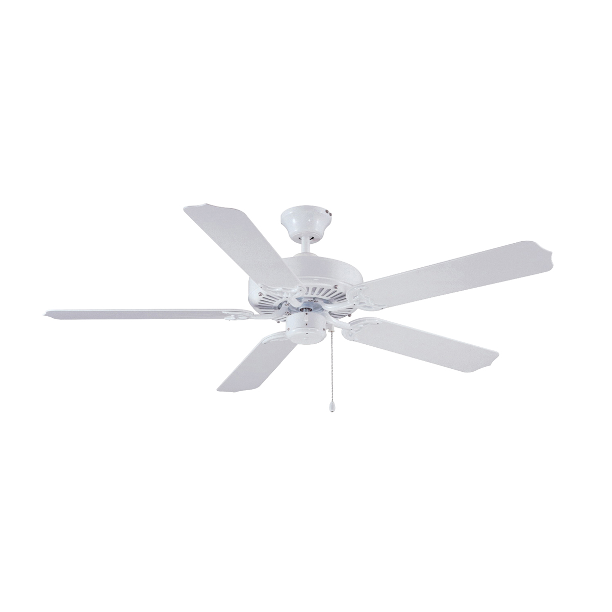 Picture of Boston Harbor CF-78092 Ceiling Fan, 0.8 A, 120 V, 5-Blade, 52 in Sweep, 3166 cfm Air, White Housing