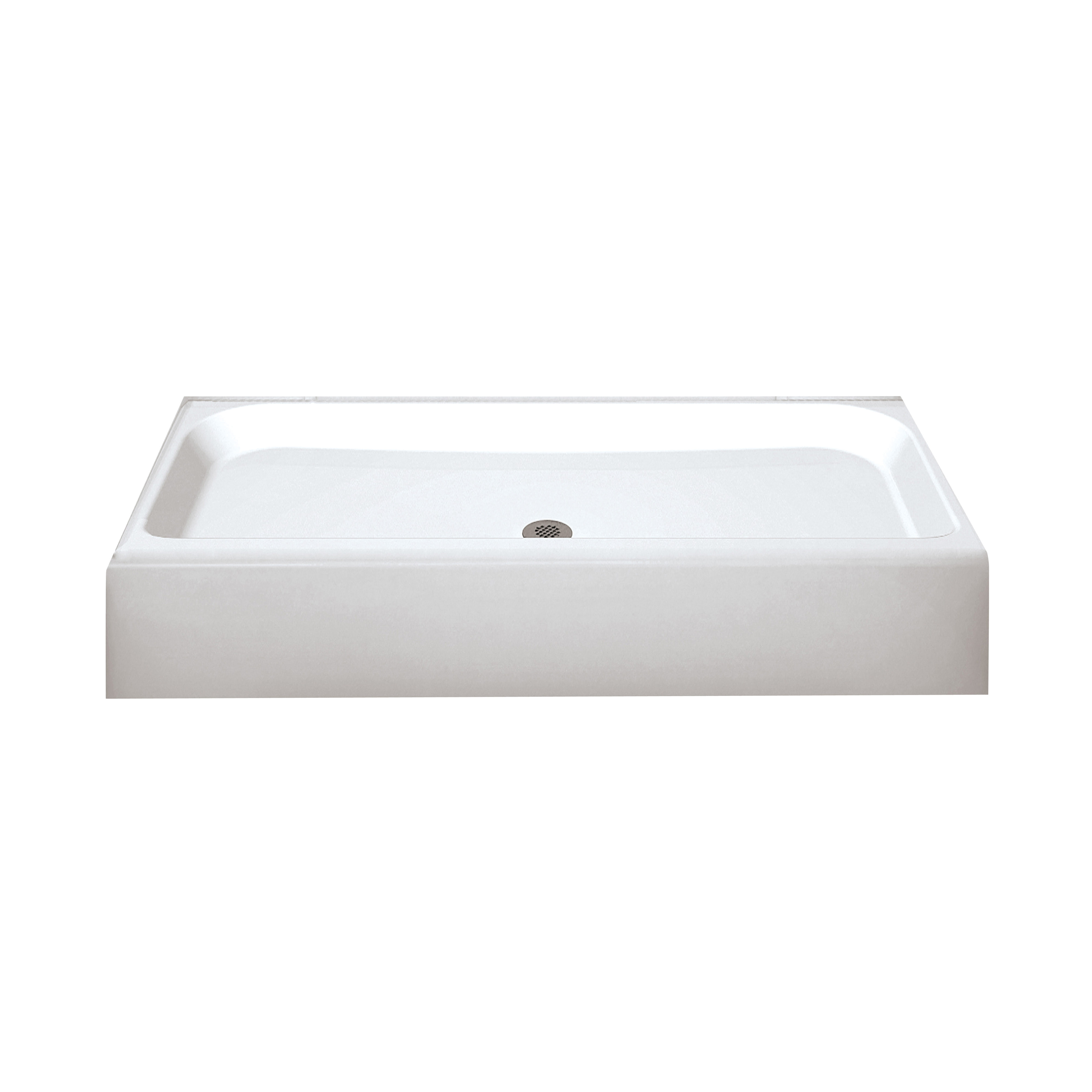 Picture of MAAX Finesse 105623-000-002 Shower Base, 60 in L, 32 in W, 7 in H, Fiberglass, White, Alcove Installation