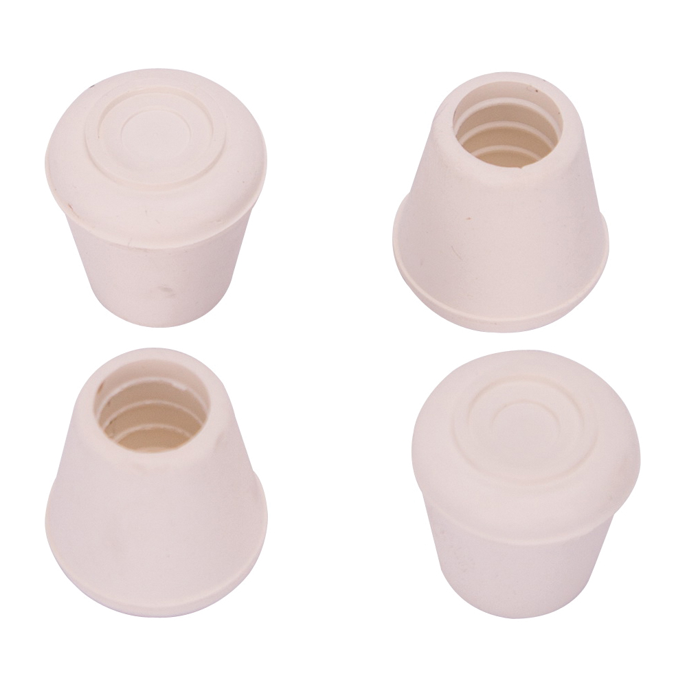 Picture of ProSource FE-50641-B Furniture Leg Tip, Round, Rubber, White, 1/2 in Dia