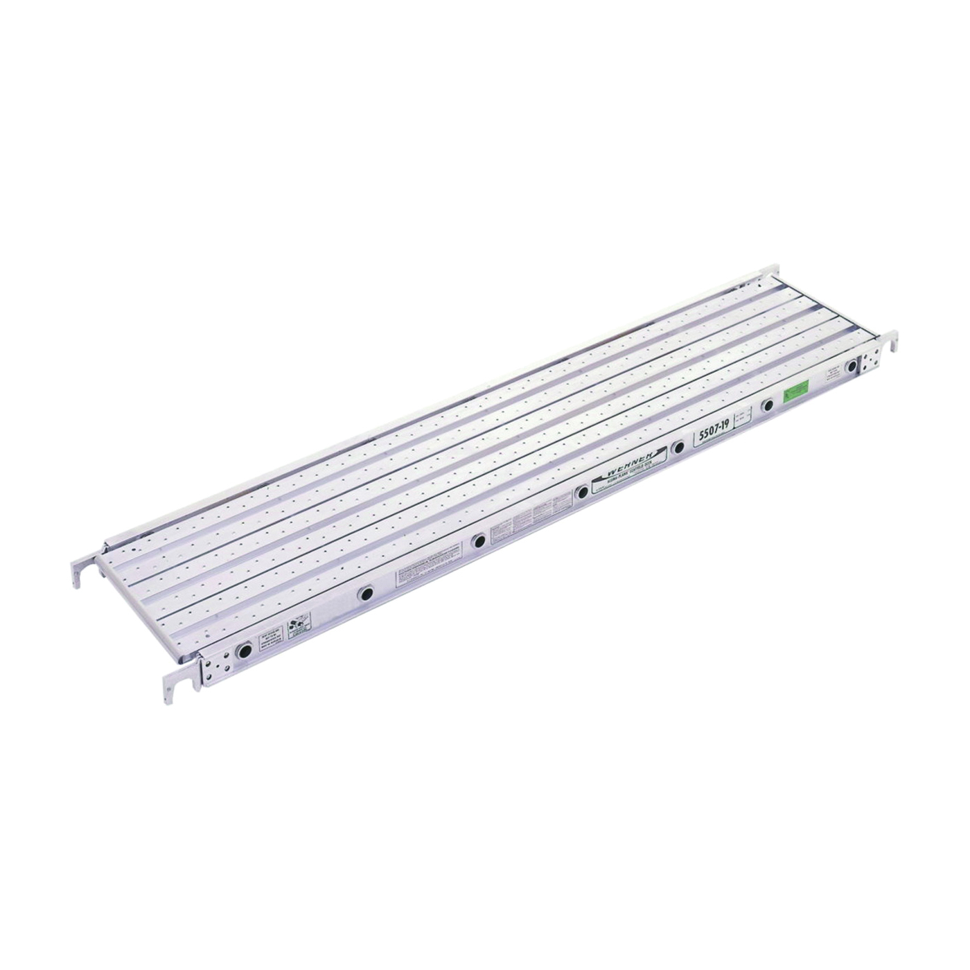 Picture of WERNER 5507-19 Aluma-Plank, 7 ft L, 19-1/16 in W, Aluminum