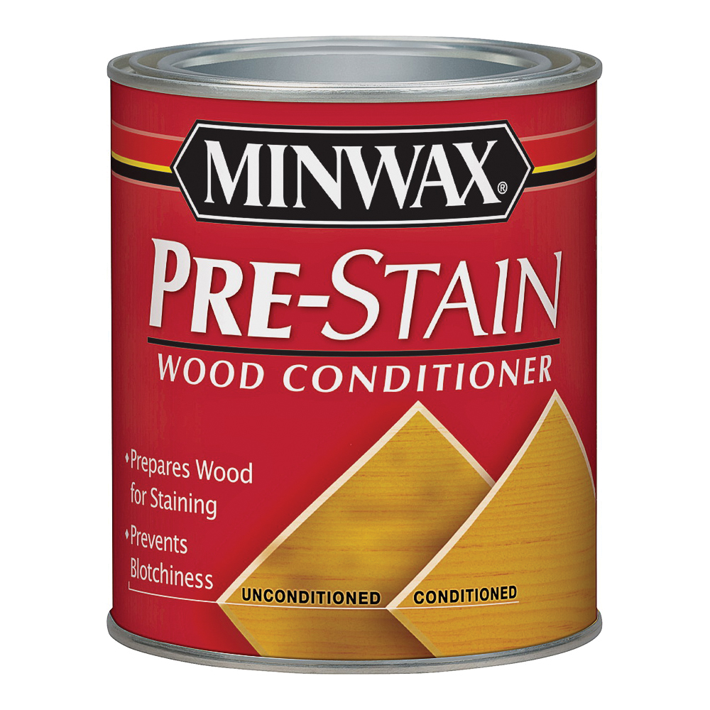 Picture of Minwax 13407 Pre-Stain Wood Conditioner, Clear, Liquid, 0.5 pt, Can