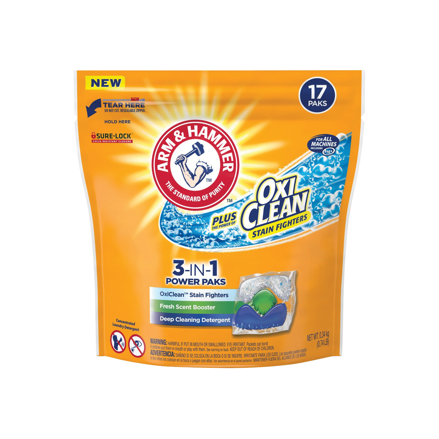 Picture of ARM & HAMMER 94206 Laundry Detergent, 17 CT, Pack, Fresh
