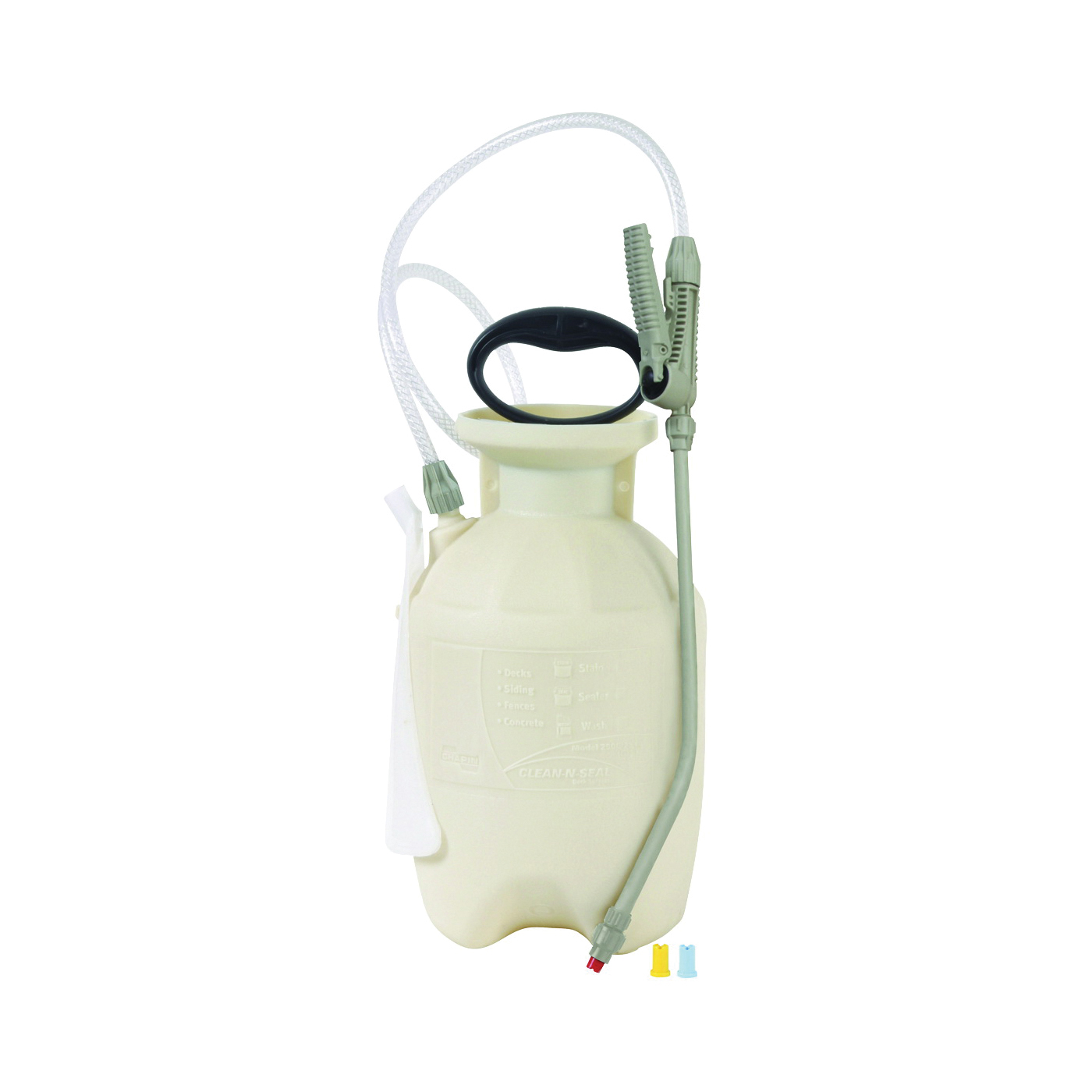 Picture of CHAPIN Clean 'N Seal 25012 Handheld Sprayer, 1 gal Tank, Poly Tank, 34 in L Hose