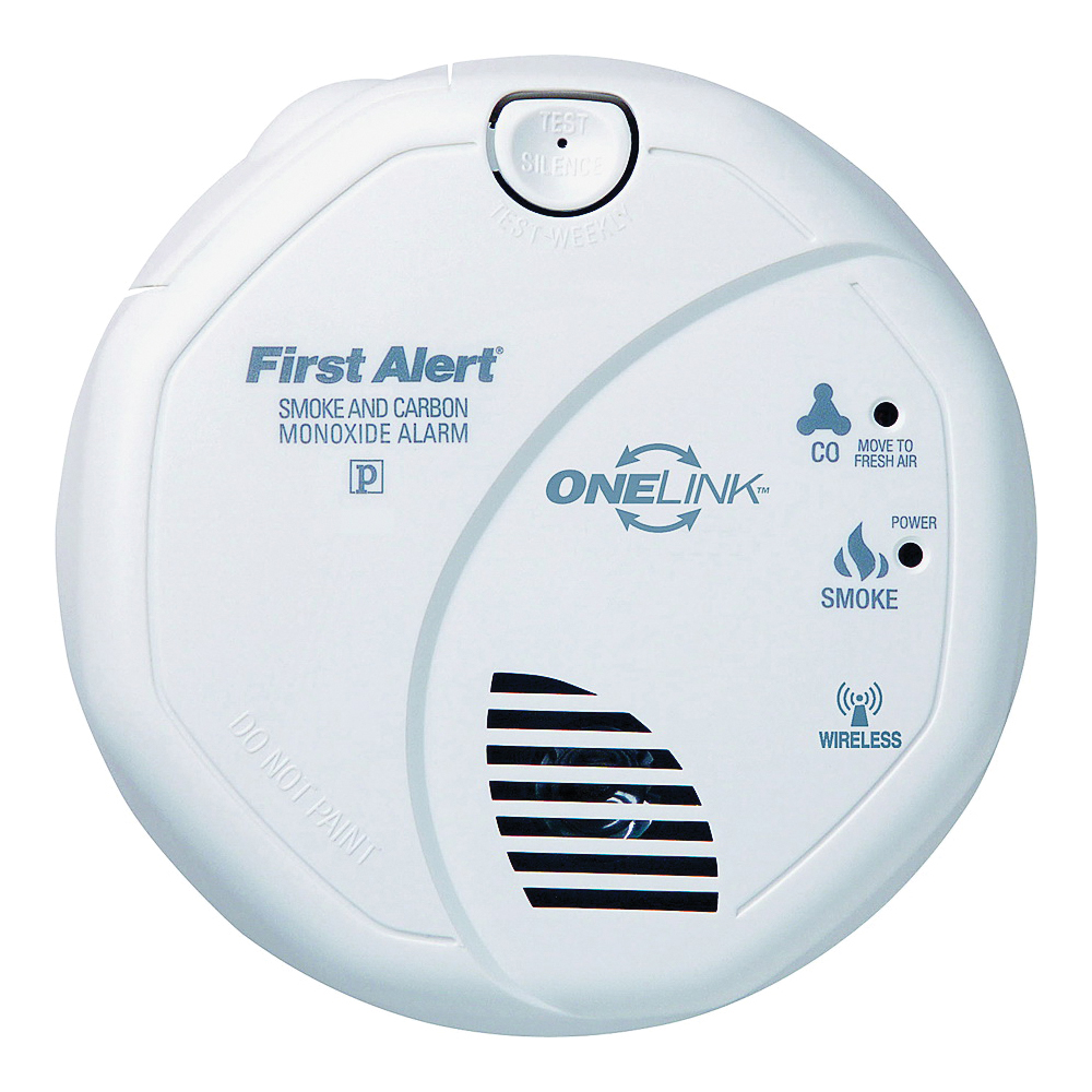Picture of FIRST ALERT SCO501CN-3ST Single Gas Detector, 85 dB, Alarm: Audible, Electrochemical, Photoelectric Sensor, White