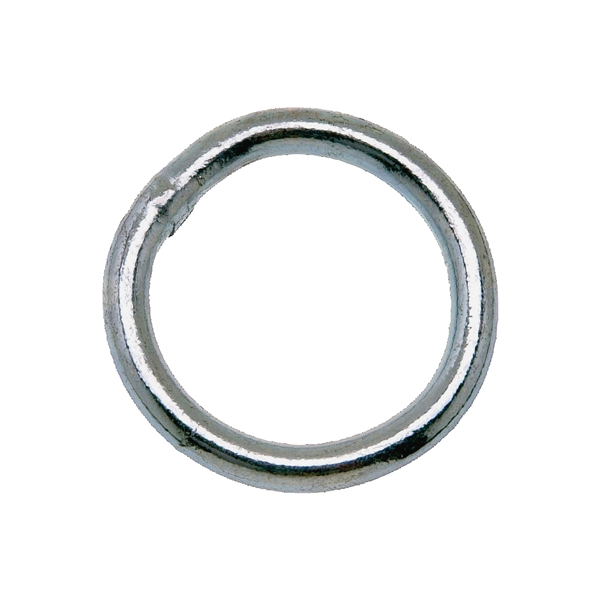 Picture of Campbell T7661361 Welded Ring, 200 lb Working Load, 2-1/2 in ID Dia Ring, #2 Chain, Steel, Zinc