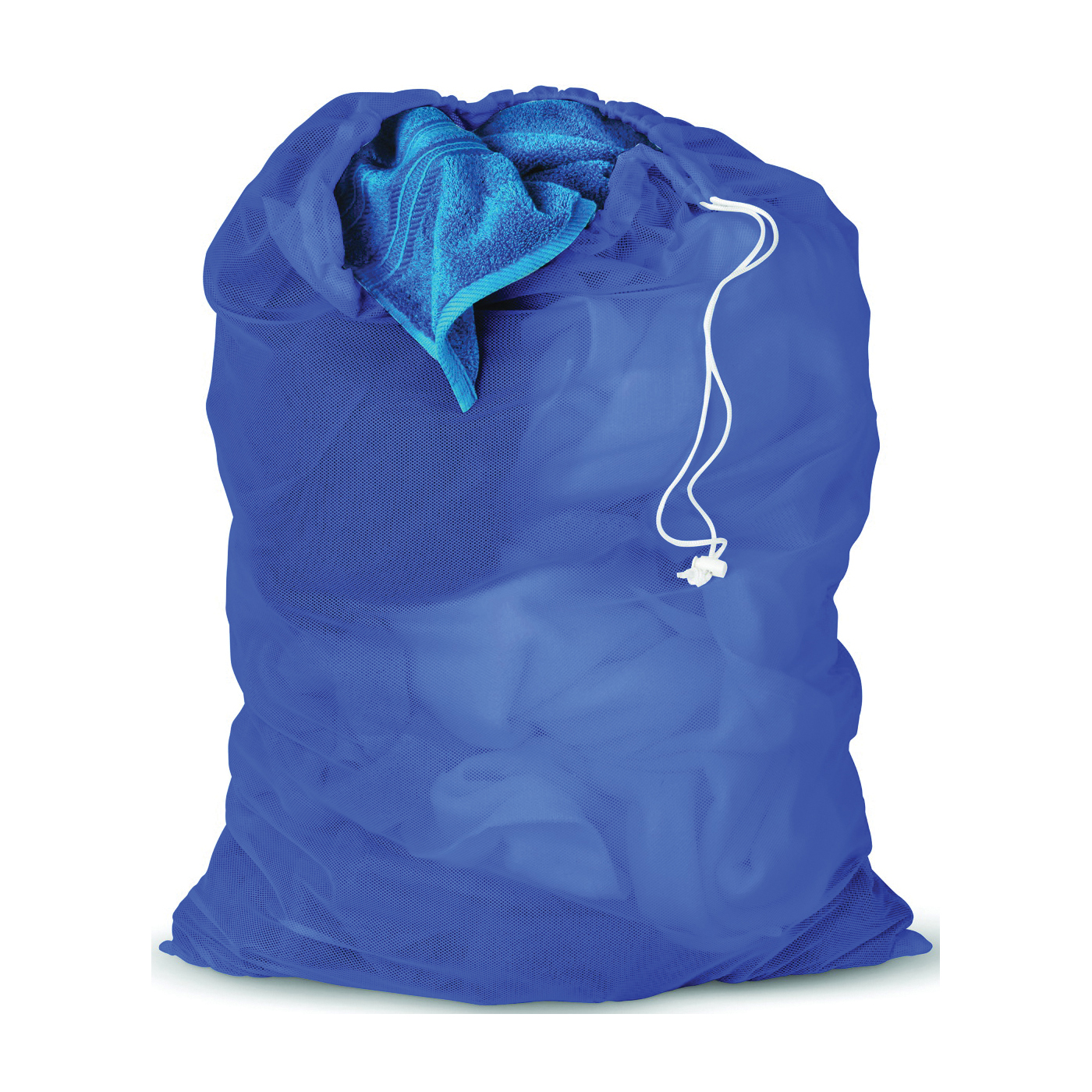 Picture of Honey-Can-Do LBG-01161 Mesh Laundry Bag, Drawstring Closure, Fabric, Blue