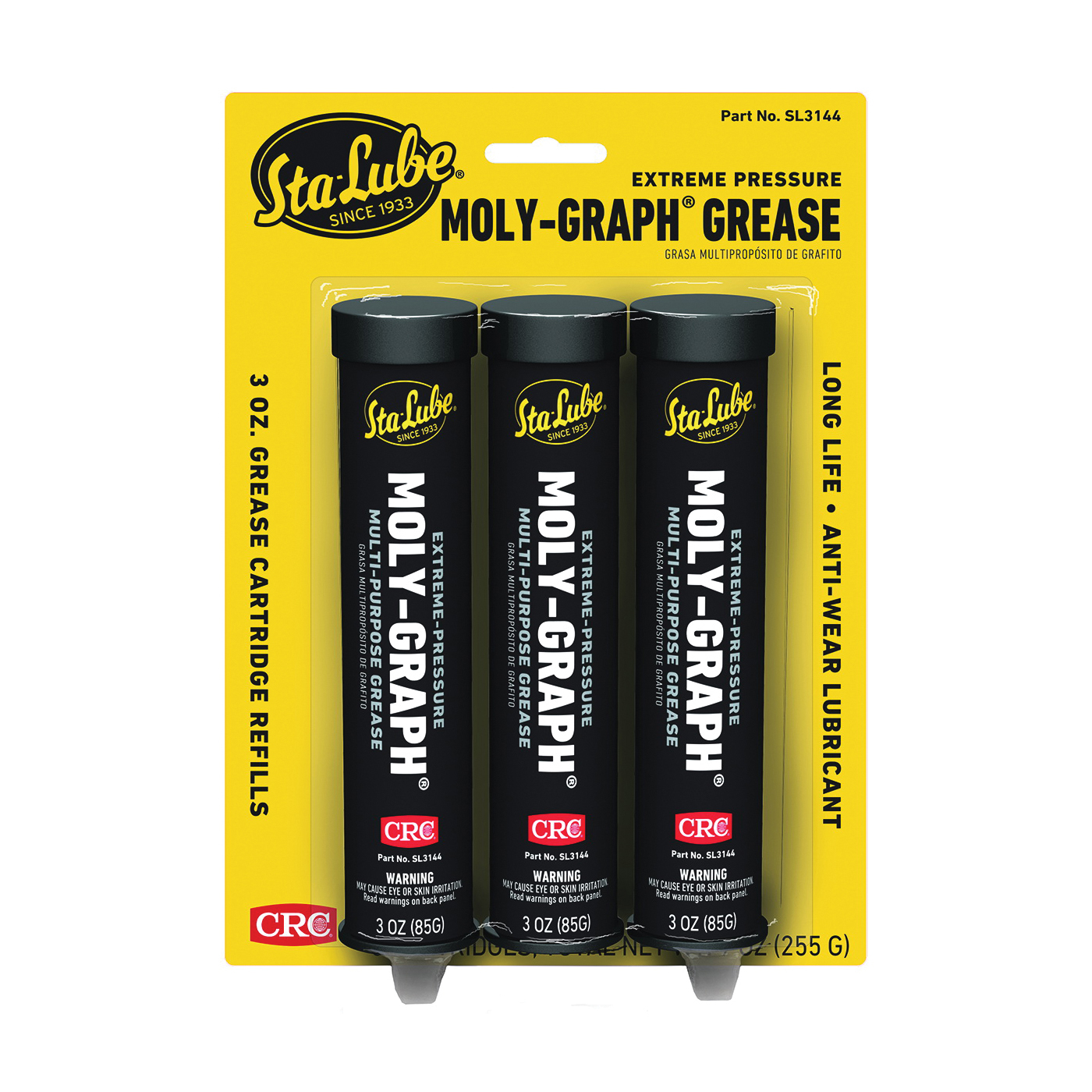 Picture of Sta-Lube SL3144 Grease, 2, 3 oz Package, Mild Petroleum, Gray