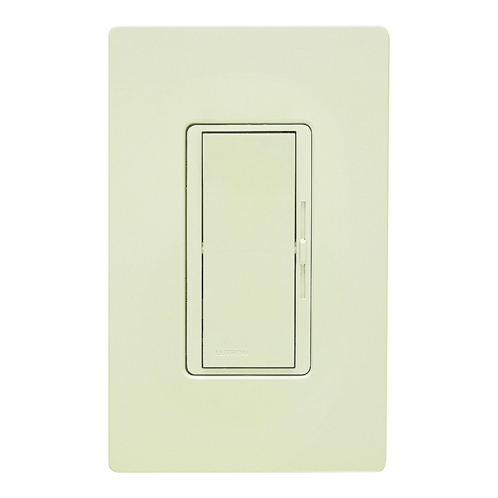 Picture of Lutron Diva DVW-603PH-LA Dimmer, 5 A, 120 V, 600 W, Incandescent Lamp, 3-Way, Light Almond