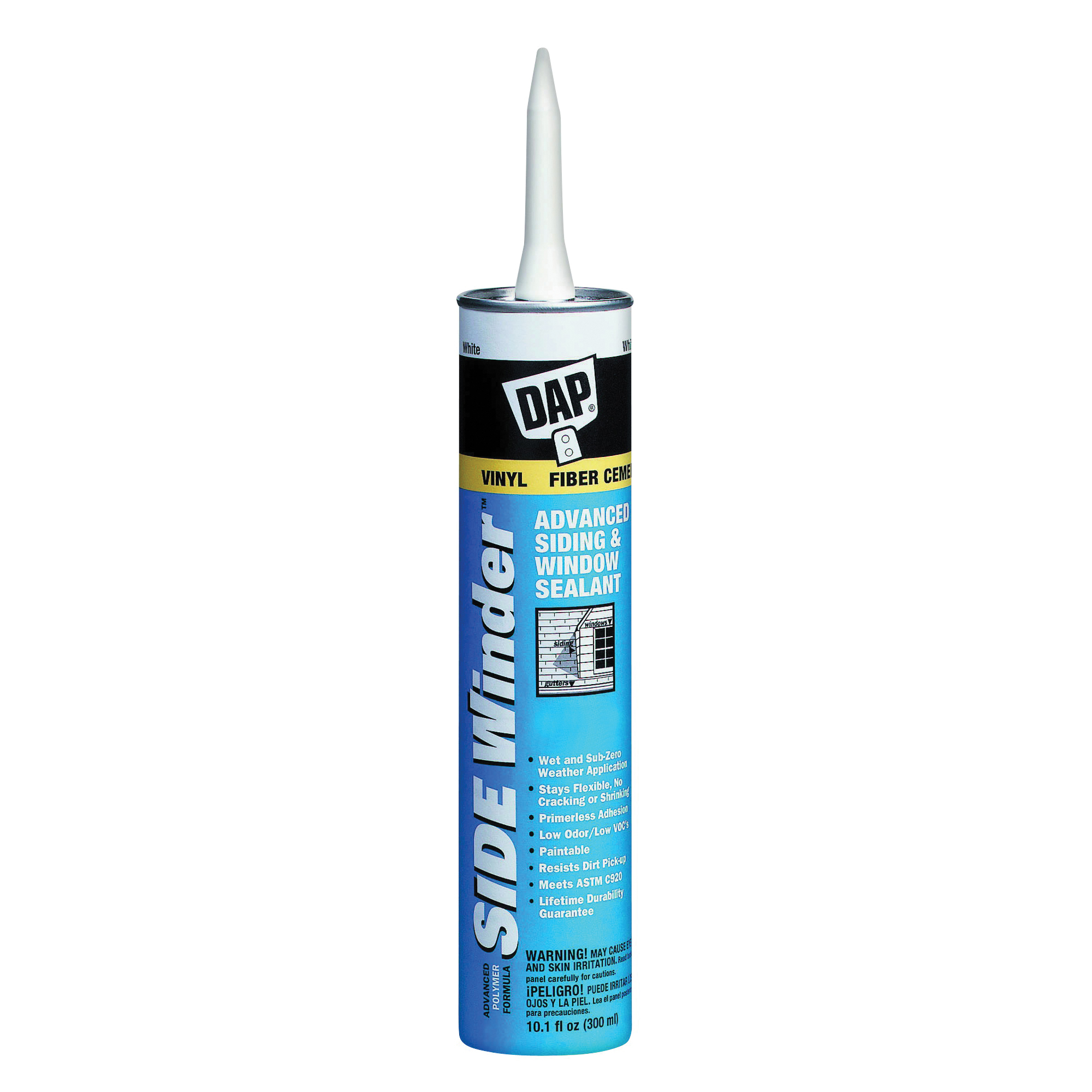 Picture of DAP 00823 Siding and Window Sealant, Cedar, 24 hr Curing, -35 to 140 deg F, 10.1 oz Package, Cartridge