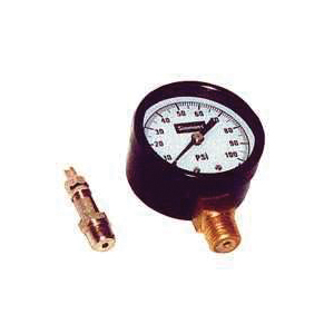 Picture of Simmons 1305 Pressure Gauge, 1/4 in Connection, MPT, 2 in Dial, Steel Gauge Case, 0 to 100 lb, Lower Connection