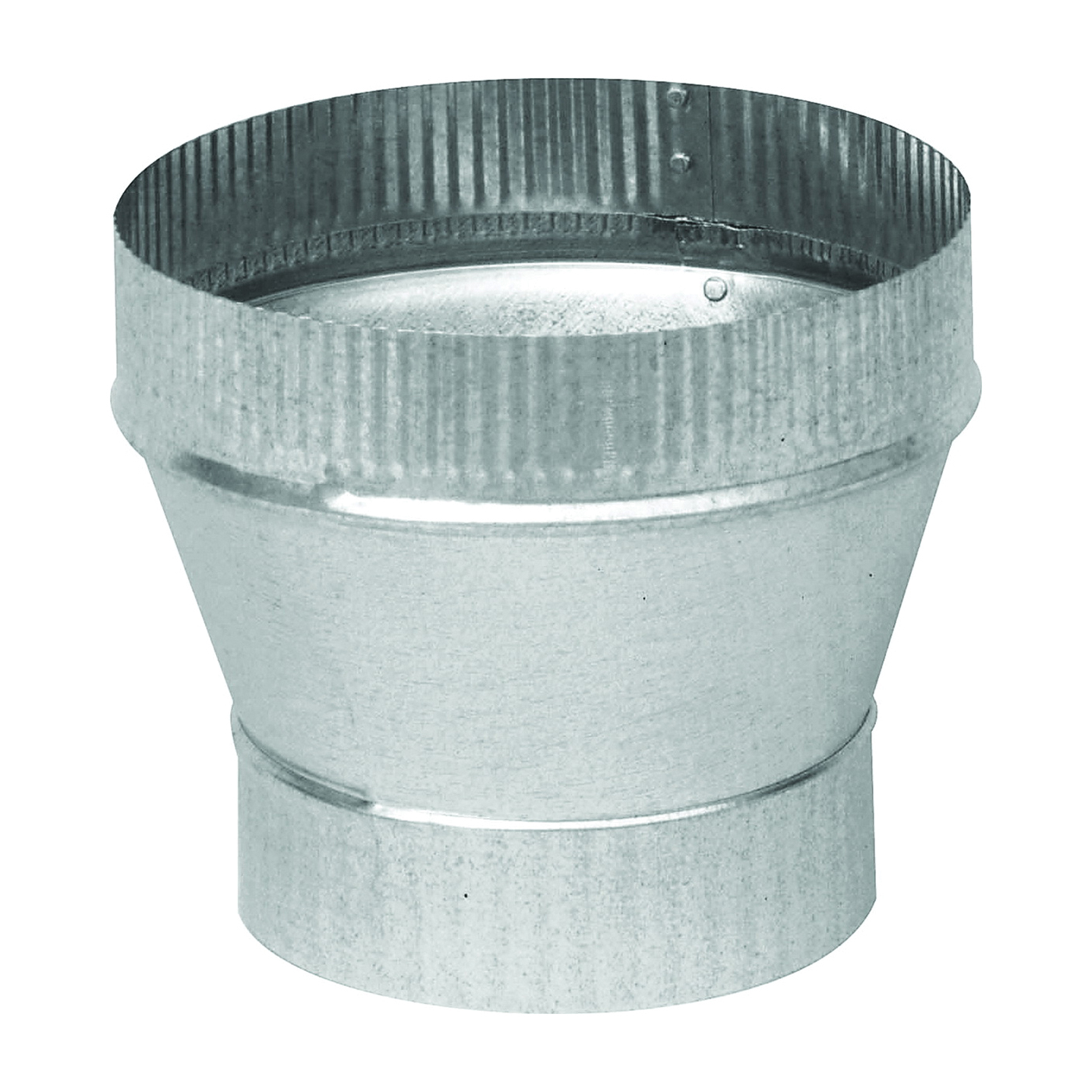 Picture of Imperial GV1361 Furnace Short Increaser, 7 to 8 in Connection, 24 Gauge, Galvanized