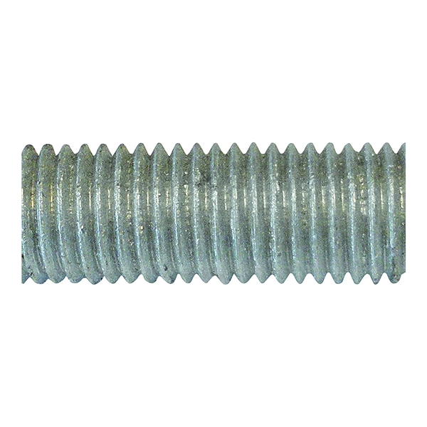 Picture of PFC 770067-BR Threaded Rod, 5/8-11 in Thread, 12 ft L, A Grade, Carbon Steel, Galvanized, NC Thread