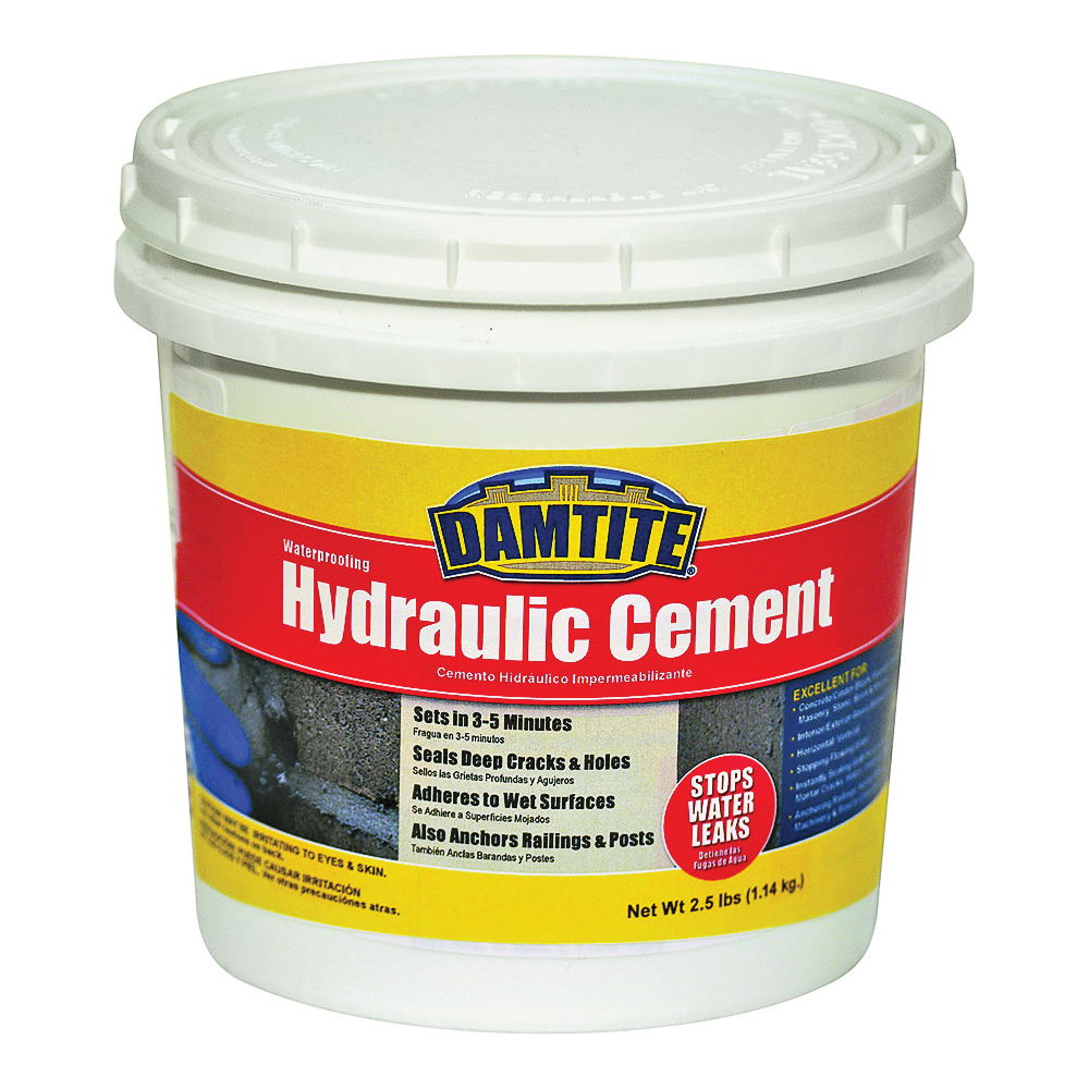 Picture of DAMTITE 07031 Hydraulic Cement, Powder, 2.5 lb Package, Pail